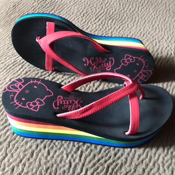3def073da Hello Kitty rainbow platform flops sandal Sanrio. M_5ac576383a112eaf818d2d9e
